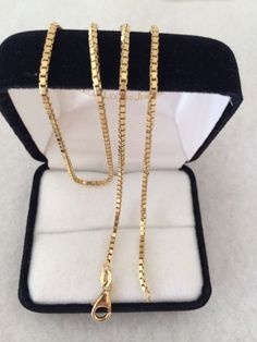 Stunning 14K 585 Fine Gold Heavy Box Chain by HauteCoutureLaLa