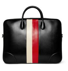 Gucci leather-crafting briefcase