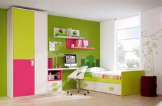 http://scapewallpaper.com/wp-content/uploads/2014/11/Beautfiul-girls-bedroom-design-with-green-white-paint-wall-and-three-color-wardrobe-and-bookcase-over-the-computer-desk-along-with-flower-wall-decal-beside-window.jpg