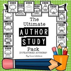 This author study pack covers 13 children's authors. For each author, there are 9 pages to use with ANY of the author's books!