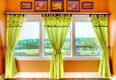 Tab-Top Panel Curtains with Button Accents | Sew4Home
