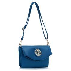 Barva modrá, velikost 28 cm x 19 cm, dlouhý nastavitelný ramenní popruh, pěkné doplňky