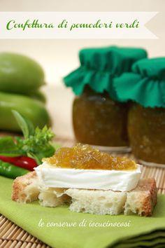 Confettura di pomodori verdi al basilico e peperoncino