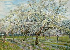 The White Orchard, 1888 by Van Gogh