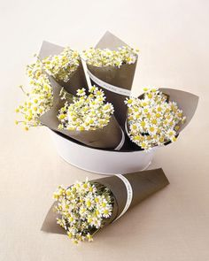 """See the """"""""Thanks a Bunch"""" Bouquets"""" in our DIY Wedding Favor Ideas for a Summer Fête gallery"""