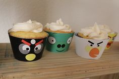 Mad Bird Cupcake Wrapper Digital Download ... you've guessed it- Jordan's Angry Bird themed bday!