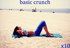 basic crunches - on your back, lift your shoulders off the ground by contracting your core. Fitness Tips, Health Fitness, Moves Like Jagger, Girl Gifs, Crunches, Gym Rat, Get In Shape, Good News, Animated Gif