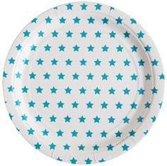 Vaisselle Blue Stars en carton Pique-nique ou anniversaire chez Bianca and Family