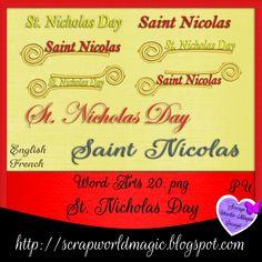 Digital Scrapbooking Freebies, St Nicholas Day, Kit, Word Art, Words, Design, Horse