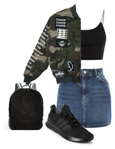 """""""Untitled #560"""" by akaunicorn ❤ liked on Polyvore featuring Puma, Topshop, Alexander Wang and adidas"""