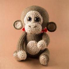 Naughty monkey crochet pattern - printable PDF
