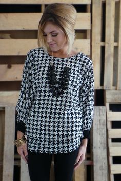 The ZigZag Stripe - Houndstooth Oversized Sweater, $34.00 (http://www.zigzagstripe.net/houndstooth-oversized-sweater/)