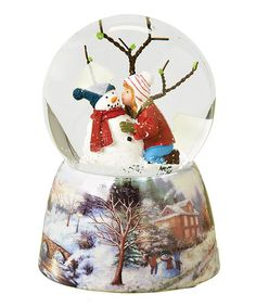 Take a look at this Kids & Snowman Musical Globe by Roman, Inc. on #zulily today!