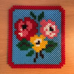 Floral frame hama beads (design by Cath Kindston) by hamabeadcreations_ant