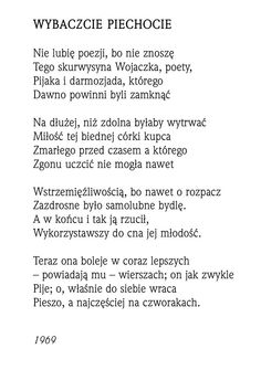 """""""Wybaczcie piechocie""""  Rafał Wojaczek"""