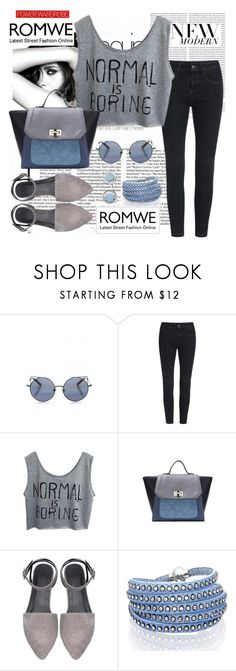 """""""Romwe#1"""" by mila96h ❤ liked on Polyvore featuring Chanel, Oris, Linda Farrow, Sif Jakobs Jewellery, House of Harlow 1960 and romwe"""