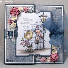 Lena Katrine `s Scrappeskreppe: DT Lotvs - Love & Romance # The Little Things Tri Fold Cards, Flip Cards, Fancy Fold Cards, Folded Cards, Beautiful Handmade Cards, Card Patterns, Cards For Friends, Handmade Birthday Cards, Card Tutorials
