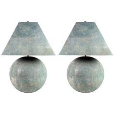 Karl Springer Shagreen-Veneered Table Lamps 1