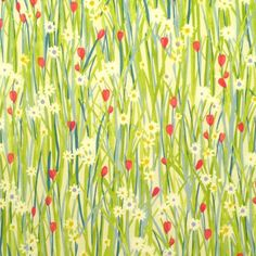 Summer Meadow Gloss Oilcloth