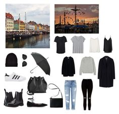 .travel light | copenhagen edition by casadefieras on Polyvore featuring moda, Acne Studios, Uniqlo, Aéropostale, Sans Souci, MSGM, Miss Selfridge, River Island, New Look and Gianvito Rossi