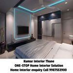 Bedroom interior design by Kumar interior for more details kindly contact us call 9987553900 unit Boho