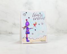 Neat Nook Creations: Winter card with a snow marker and watercolor markers. Winter Cards, Holiday Cards, Unity Stamps, Altenew, Brush Pen, Watercolor Paper, Nook, Handmade Cards, Markers