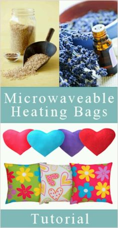 Microwave heating pads - http://tipnut.com/make-your-own-microwave-heating-pad/