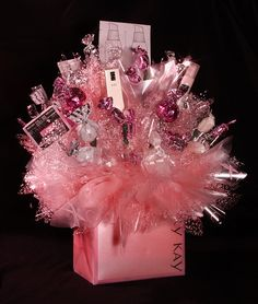 Love this idea need a quick last minute gift for any occasion mary kay gift baskets mary kay bouquet contact me today for your personalized gift negle