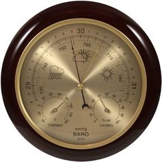 Camping  Weather Instrument - Pin It :-) Follow us :-)) zCamping.com is your Camping Product Gallery ;) CLICK IMAGE TWICE for Pricing and Info :) SEE A LARGER SELECTION of weather thermometer at http://zcamping.com/category/camping-categories/camping-survival-and-navigation/camping-weather-instruments/ -  camping gear, hunting,  camping essentials, camping, barometer -   Ambient Weather WS-YG302A-G Cherry Finish Dial Traditional Barometer with Temperature and Humidity « zCamping.com
