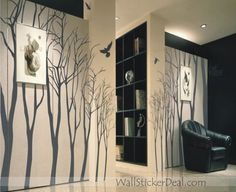 Love Forest - Winter Tree Wall Stickers