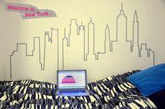 10 decoraciones de pared con washi tape