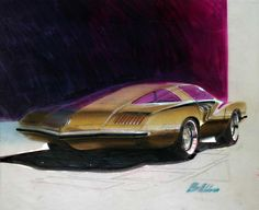 This exhibition highlights the creativity of the American automobile designers of the 1960s and 70s
