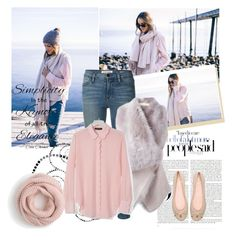 """""""Lakeside Morning"""" by sarapires ❤ liked on Polyvore featuring Frame Denim, PINGHE, Banana Republic, Kate Spade, J.Crew and Chanel"""