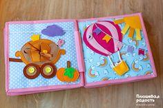 Купить или заказать Развивающая книжка-игрушка 'Про принцессу' в интернет-магазине на Ярмарке Мастеров. Развивающая книжка-игрушка 'Про принцессу' состоит из 10 страниц. Будет интересна детям от 6 месяцев (играть следует под присмотром взрослых). Книжка выполнена из качественных неаллергенных материалов - хлопка и фетра. Все пуговички прочно пришиты. В книге 23 съемных элемента, которыми можно играть по отдельности. По желанию обложку можно украсить именной надписью или картин...