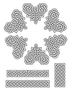 Celtic knot patterns created using celtic knot font! Viking Designs, Celtic Knot Designs, Irish Celtic, Celtic Art, Coloring Books, Coloring Pages, Celtic Patterns, Zentangle Patterns, Zentangles