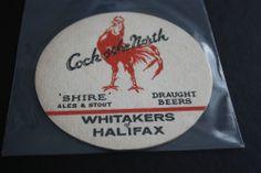 1968 Beermat Whitakers (Halifax) Cat 021 (NT 1L23)