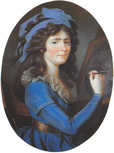 1797 Young Caroline of Baden as an artist by Philipp Jakob Becker (Generallandesarchiv Karlsruhe - Karlsruhe, Baden-Württemberg Germany) Art Deco Diamond, 18th Century Paintings, Illustration, Great Artists, Artist, Painting, Female Art, Miniature Portraits, Portrait