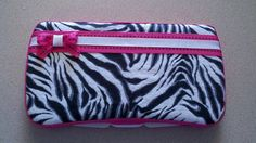 Zebra Print Baby Wipe Case