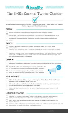The Small Business #Twitter Checklist