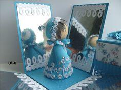 3D girl in blue box