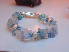 Genuine handmade bracelet with  Aquamarine by MustLoveCrystals