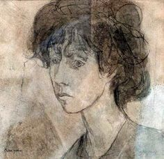 "art-centric: "" Gwen John by -Vitor Moreira. Gwen John, Mary John, Face Art, Art Faces, Drawing Sketches, Drawings, John Piper, Drawing Projects, Impressionist Paintings"