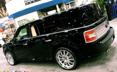 2009 Ford Flex, can't wait to get back to the states and tin my windows this dark