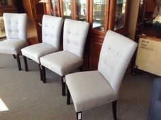 Set of Parsons Chairs  - Four chairs like new. Sold as a set  $480.00.  Item 887-76.       - http://takeitorleaveit.co/2016/10/06/set-of-parsons-chairs/