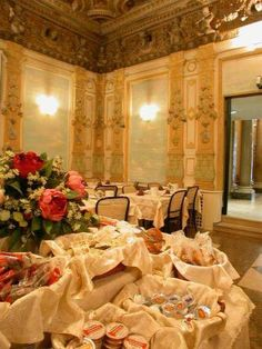 Panoramic views of Rome and breakfast served in a lavish 18th-century dining room at the **** Hotel Traiano