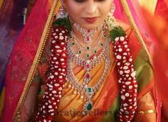 Jewellery Designs: Bride in Opulent Diamond Jewelry