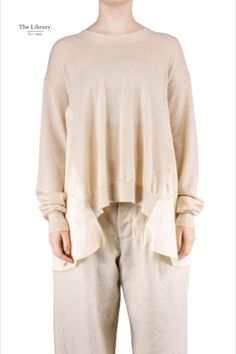 fashion is art @ the library 1994 from Uma Wang in Chelsea London, Wearable Art, Cashmere, Tunic Tops, Beige, Boutique, Knitting, Coat, Long Sleeve