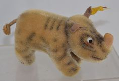 """Image detail for -Vintage German Steiff Stuffed Animal Toy Rhino """"Nosy"""" Mohair with ..."""
