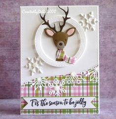 I still have some Christmas cards in my drafts to post, this one of them using the Simon Says Stamp · Picture Box Deer Die and using the same layout as the ...