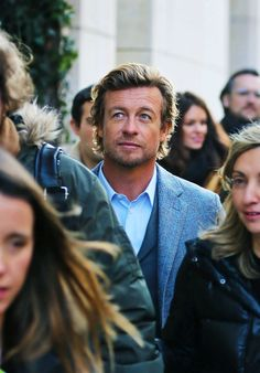 Paris, Feb. 2015 - Simon Baker models for Elle Spain.